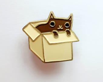 BLACK CAT pin - animals enamel pin - black cat gifts, black cat jewelry, cool enamel pins, cool lapel pin, kawaii lapel pin, cute enamel pin