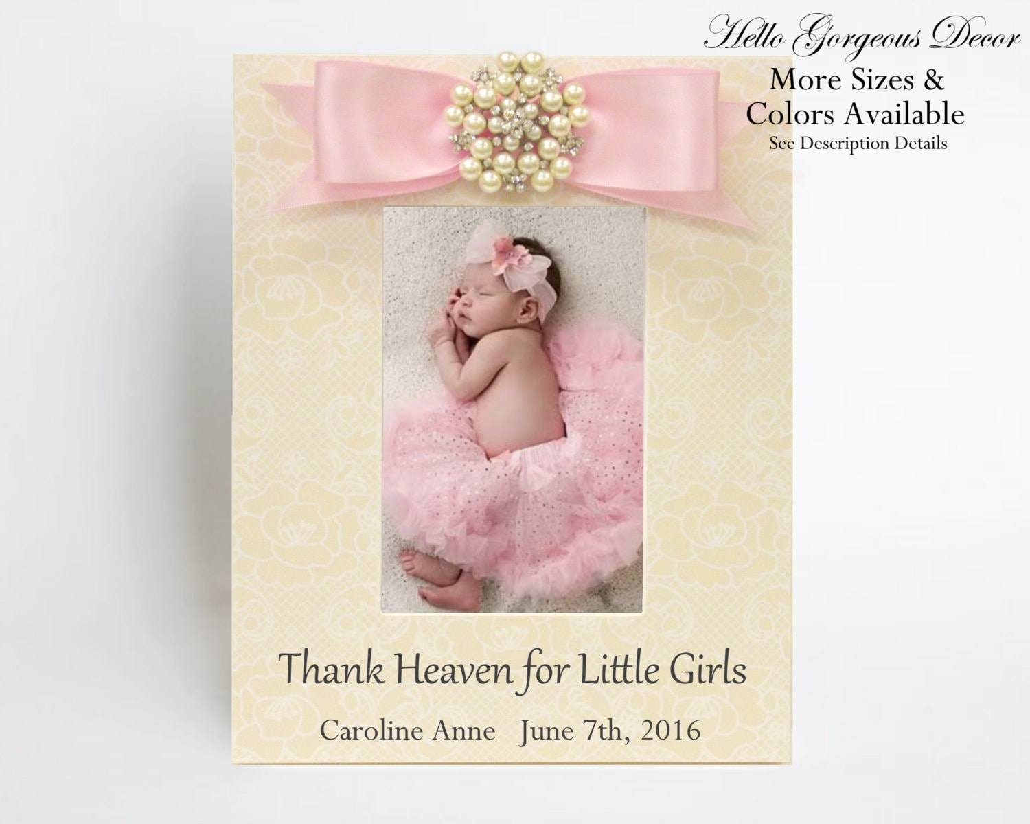 Baby Picture Frame Gift for New Baby Girl Personalized Baby