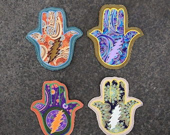 Grateful Hamsa Hand Patches