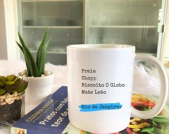 Brazil Travel Inspired Mug. Rio de Janeiro