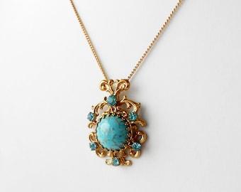 Vintage Pendant Necklace, Vintage Necklace