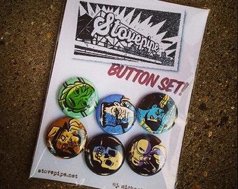 Pin Back Button Set