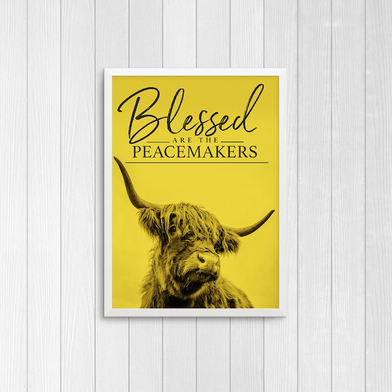 Farm Wall Art Blessed are the Peacemakers Custom Print
