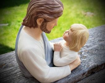 Masterpiece Porcelain Figurine, Precious in His Light, Jesus Savior and Child 1990 Home Interiors HOMCO