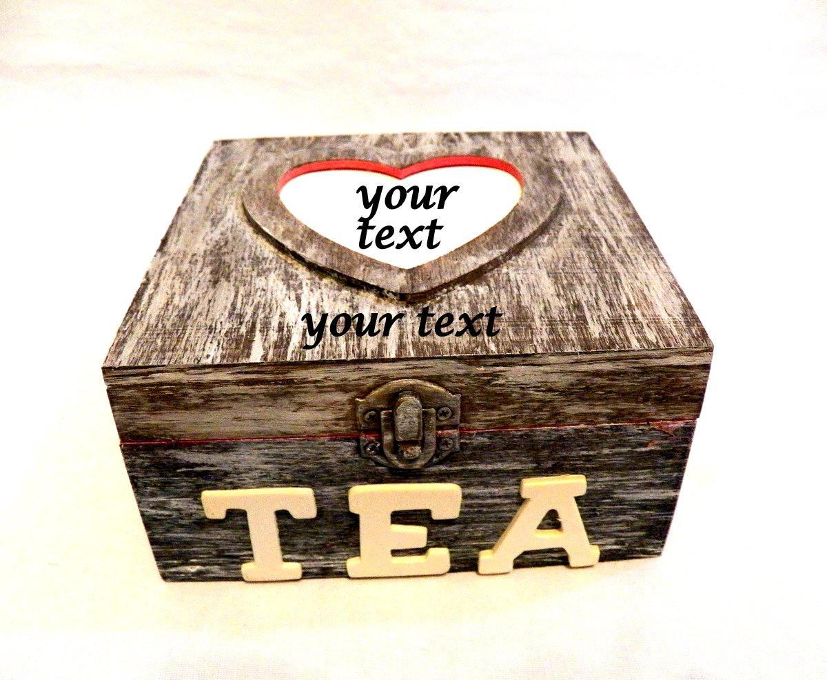 Benutzerdefinierte Teebox Tee-Box Weihnachten Geschenk
