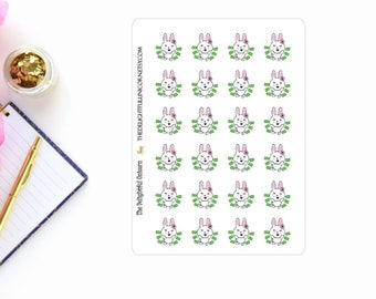 Rabbit payday stickers, animal stickers, cute stickers, planner stickers, functional stickers, planner accessories