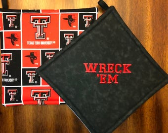 Texas Tech Embroidered Hot Pads/Pot Holders
