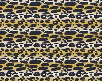 KNIT Fabric: Art Gallery Animalia Exotica Cotton Lycra Knit Fabric. Sold by the 1/2 Yard