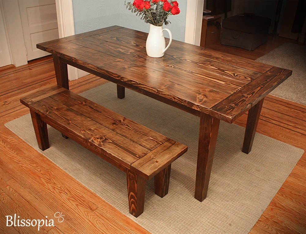 Harvest Kitchen Table Farmhouse dining table with tapered legs rustic harvest zoom workwithnaturefo