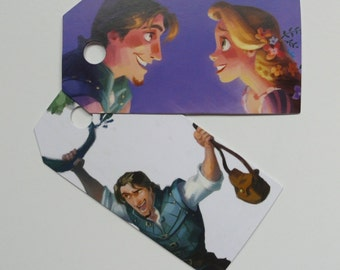Tangled, 10 Gift tags, Tangled labels, Tangled gift tags, Disney, Disney labels, Disney gift tags, Paper ephemera, Journaling, #158