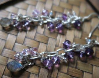 Amethyst drop earrings