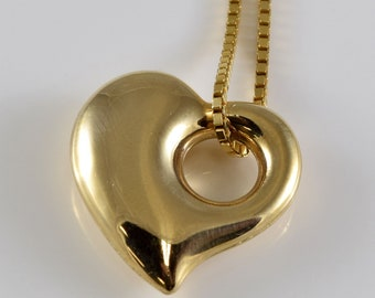 Vintage 14K Gold Heart Necklace