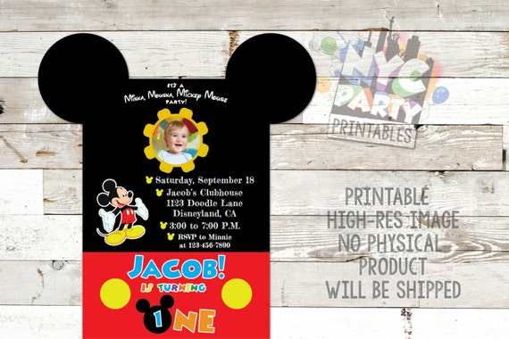 Mickey Mouse Birthday Party Invitation Mickey Mouse Birthday Invite
