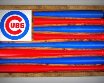 Chicago Cubs Baseball Bat Flag