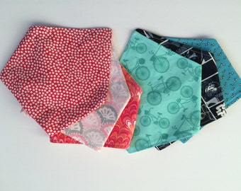 Woven Cotton Bandana Bibs - Choose 1
