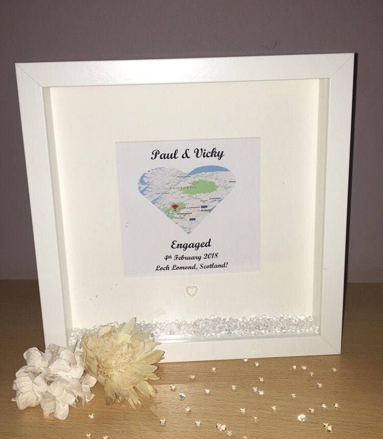 Engagement Frame, Personalised Engagement Frame, Engagement Gift ...