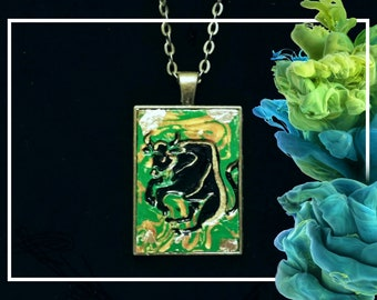 Taurus May Emerald Pendant Necklace