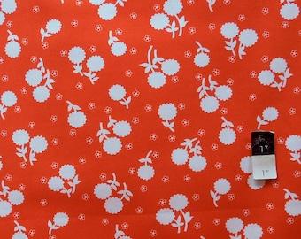 Jennifer Paganelli PWJP059 Girls World Vibe Anastasia Tangerine Cotton Fabric 1 Yard