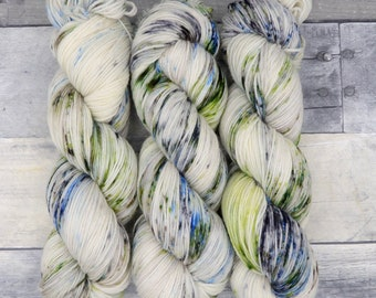 The Argonath (Luxe Sock, speckled)- stone grey and brown with speckles of blue and green