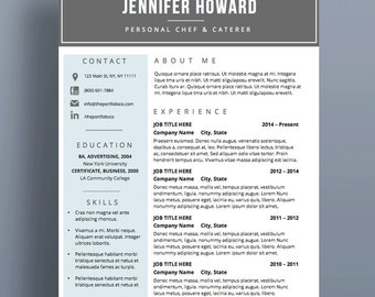 "Resume Template | CV Template + Cover Letter | Modern Resume Designs | Mac or PC | Fully Customizable (""La Brea"")"