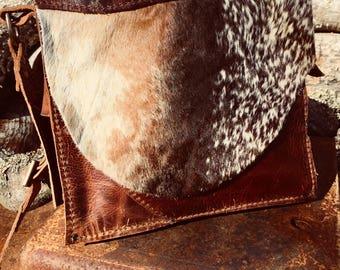 Cowhide Messenger Bag