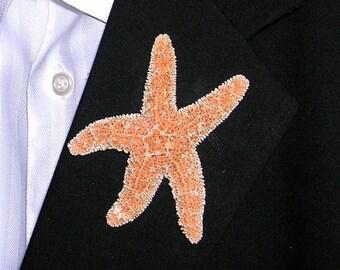 On Sale Beach Wedding Starfish Boutonniere, Real Sugar Starfish