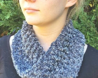 Steel Speckle Ear Warmer and Cowl