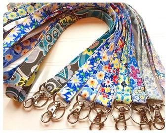 Lanyard, Fabric Lanyard, ID Badge Holder, Key Holder - Choose your design [24-31]