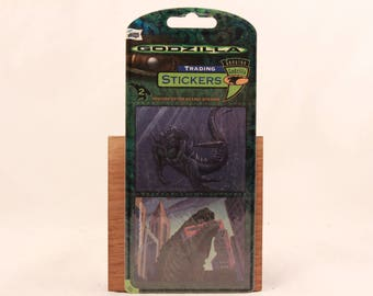 "New Mello Smello ""Godzilla"" Trading Sticker Sheet."