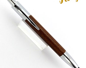Santos Rosewood - Wood Pen - Ballpoint Pen - Stylus - Hand Made - Chrome - Wooden pen - Birthday - Leaving - Graduation - Present - 1405