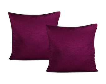 Plum Pillow Cover, Set of 2 Pillow Covers