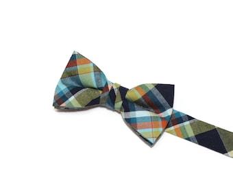 Boys Bow Tie~Boys Bow Tie~Boys Plaid Bow Tie~Cotton Bow Tie~Church Tie~Ring Bearer~