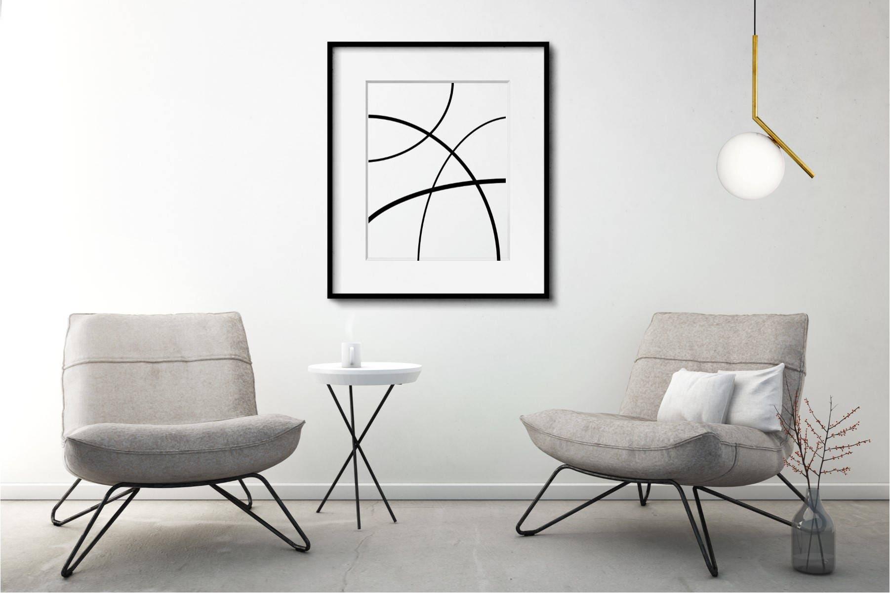 Noir Et Blanc Art Art Abstrait Art Minimaliste Art