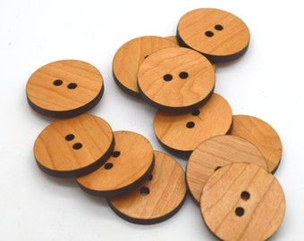 Ten Wooden Buttons - different sizes avalable - made from laser cut finished wood