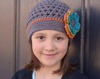 Crochet Hat for Girls, Crochet Hat, Crochet Little Girl Hat, Toddler Girl Hat, Crochet Beanie, Crochet Kids Hat, Little Girl Hat, Winter Hat