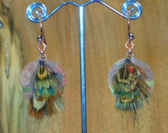 E196-Real feather Earring