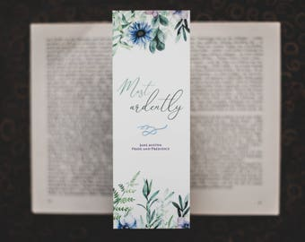 Most Ardently - Pride and Prejudice inspired bookmark