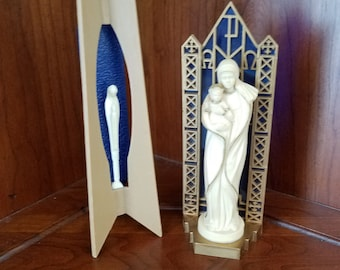 Mid Century Virgin Mary/ Madonna Statuary