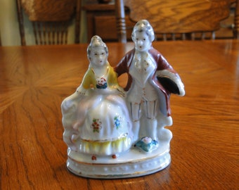Mid-Century Occupied Japan Figurine, Victorian Couple, Lady & Gentleman
