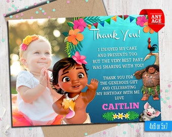 Thank You Card Baby Etsy - Custom thank you card template