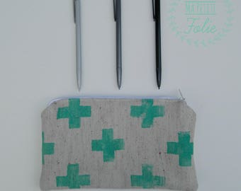 Pocket with cross. Handmade in Quebec