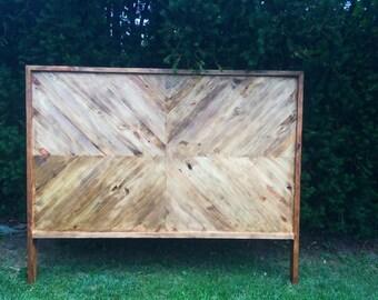 Chevron Wood Headboard, King, Queen, Full/Double, Twin, Herringbone Headboard, Farmhouse Headboard, Rustic Headboard, Wooden Headboard