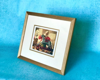 Vintage Santa Framed Art