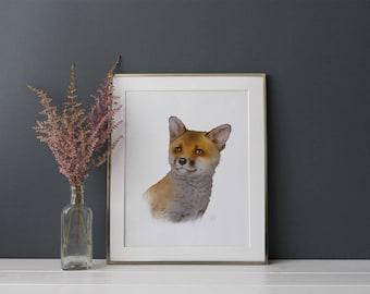 Woodland Animal Nursery Fox Print - Fox Decor - Fox Nursery - Forest Animal Nursery Decor - Fox Baby Decor - Nursery Artwork - Fox Gifts