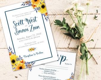 Wedding Invitation Suite - Wedding Stationery - Handlettered invitation - Custom invitation