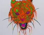 Punk Watercolor Tiger...