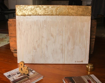 Gold Leaf Abstract Canvas 24x30