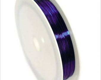 0,4mm copper wire / coil 10 m purple