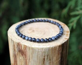 Larvikite Bracelet, Moonstone Bracelet, Larvikite beads, Beaded Bracelet, Gemstone bracelet, Yoga Bracelet, Men's/Women's Bracelet