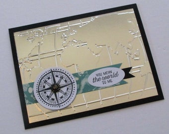 World Map Birthday Card | Father's Day Card